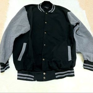 Letterman Black Jacket Size XXL